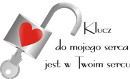 Walentynkowy kubek z nadrukiem Klucz do mojego serca jest w Twoim sercu