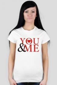 Koszulka na Walentynki z nadrukiem You & Me