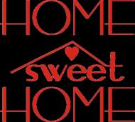 Home sweet Home czerwona