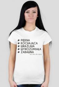 Koszulka z nadrukiem # ale tylko dla męża