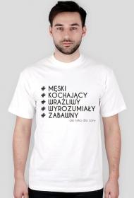 Koszulka z nadrukiem # ale tylko dla żony