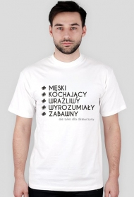 Koszulka z nadrukiem # ale tylko dla dziewczyny