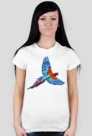 Koszulka z nadrukiem  geometryczna papuga