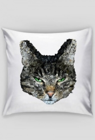 Poszewka z kotem geometrycznym