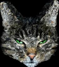 Torba z nadrukiem z kotem geometrycznym