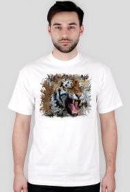 Koszulka z nadrukiem z geometrycznym tygrysem