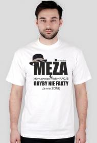 Koszulka z nadrukiem Koszulka męża, który zawsze miałby rację, gdyby nie fakt, że ma żonę