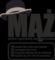 Poduszka/Poszewka z nadrukiem Mąż Sp. z o.o.