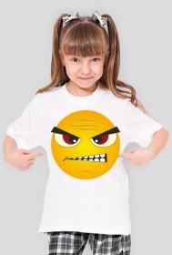 Koszulka dziecięca Emotikon złość, foch, zdenerwowanie