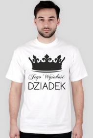 Koszulka z nadrukiem na Dzień Dziadka Jego Wysokość Dziadek