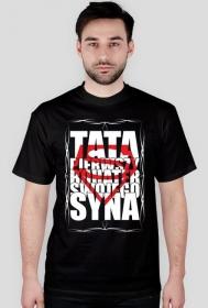 Koszulka na Dzień Taty/Ojca TATA Pierwszy Bohater Swojego Syna