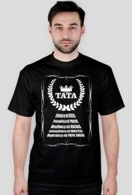 Koszulka na Dzień Taty/Ojca Tata Silniejszym, Pracowitszy, Wrażliwszy, Fantazyjniejszy, Mądrzejszy niż...