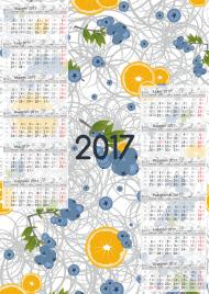 Kalendarz 2017 wzór 3 + Twoje zdjęcia