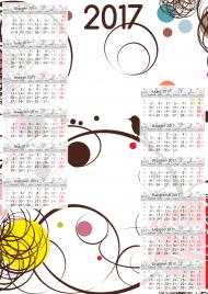 Kalendarz 2017 wzór 10 + Twoje zdjęcia