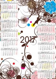 Kalendarz 2017 wzór 11 + Twoje zdjęcia