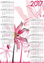 Kalendarz 2017 wzór 20 + Twoje zdjęcia