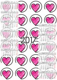 Kalendarz 2017 wzór 29 + Twoje zdjęcia