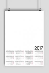 Kalendarz 2017 wzór 30 pusty + Twoje zdjęcia