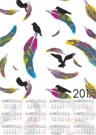 Kalendarz 2017 wzór 37 + Twoje zdjęcia
