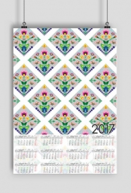 Kalendarz 2017 wzór 43 + Twoje zdjęcia
