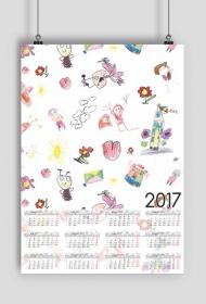 Kalendarz 2017 wzór 45 + Twoje zdjęcia