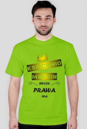 Koszulka z nadrukiem Księciunio Imię swoje prawa ma