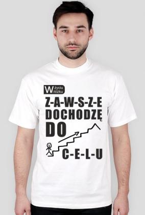 Koszulka z nadrukiem W życiu i w łóżku ZAWSZE dochodzę do CELU