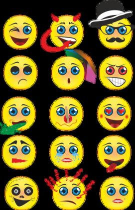 Kubek z nadrukiem emotikon