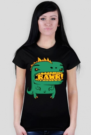 Koszulka Dinozaur - Rawr! / damska