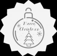 Poduszka Merry Christmas jasna