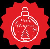 Poduszka Merry Christmas czerwona