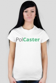 Koszulka PolCaster biała