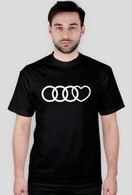 'Audi heart' koszulka męska
