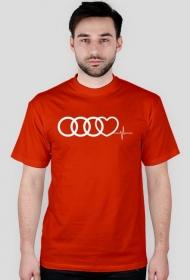 'Audi heart puls' koszulka męska
