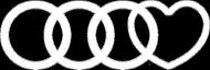 'Audi heart' bluza męska,bez kaptura