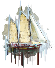 Żaglówka Statek koszulka z nadrukiem
