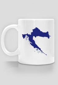 Kubek - mapa Chorwacji