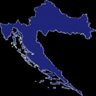 Portfel - mapa Chorwacji