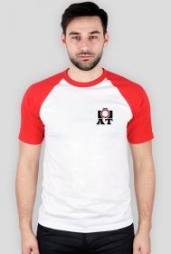 Koszulka biała, czerwone rękawki AT
