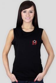 Koszulka damska, bez rękawów, czarna, AT