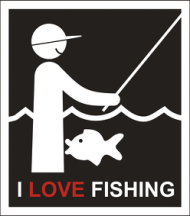 I LOVE FISHING KUBEK