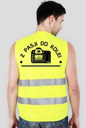 Kamizelka odblaskowa - Z pasji do kolei - szymsza1 wear - Kolejowe koszulki, kubki i gadżety