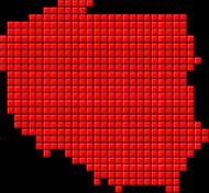 Mapa Polski piksele - koszulka męska Prawo Wilka