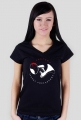 Koszulka damska V-neck - nadruk okrągły
