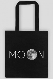 MOON BLACK TOTE BAG