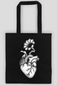 MUSIC GRAMOPHONE HEART ECOBAG