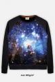 BLUZA GALAXY FULLPRINT - męska bluza kosmos galaktyka w Kosmosy