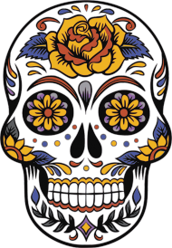 Koszulka Halloween - Meksykańska Czaszka