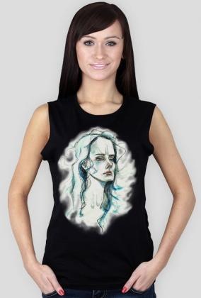 Koszulka damska czarna - KOBIETA