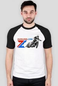 Koszulka Zuzelendu z żużlowcem, kolorowe rękawy